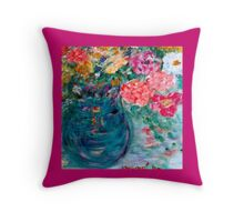 Romance Flowers Designer Art Decor & Gifts - Pink Throw Pillow