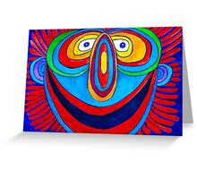 Rainbow Hand Drawn Face Greeting Card