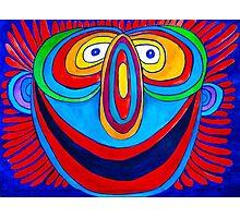 Rainbow Hand Drawn Face Photographic Print