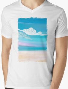 Sea and Clouds Mens V-Neck T-Shirt