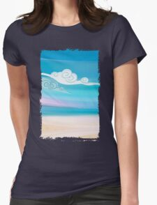 Sea and Clouds Womens Fitted T-Shirt