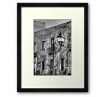 Broken Street Light Framed Print