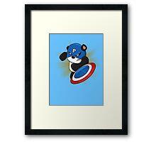 Captain Panda - The First Panda Avenger Framed Print