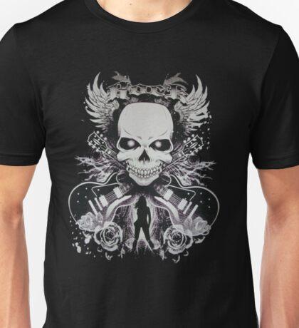 skull rock guitaris ladies  Unisex T-Shirt