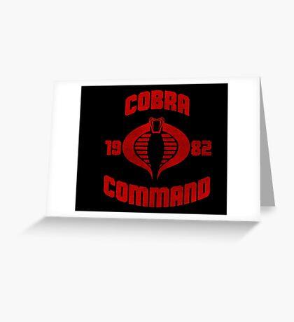 Cobra Command Greeting Card