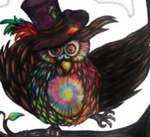 Crazy Owl - Mad Hatter inspired Sticker