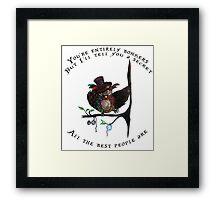 Crazy Owl - Mad Hatter inspired Framed Print