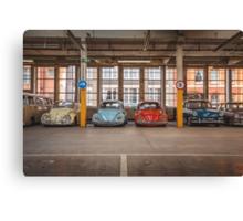 VW Beetle Bus Camper Classics Canvas Print