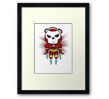 Iron Panda Framed Print