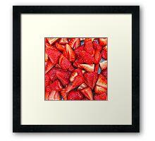 Strawberry Texture Framed Print