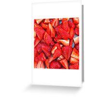 Strawberry Texture Greeting Card