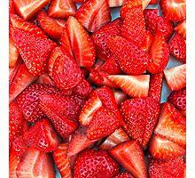 Strawberry Texture Photographic Print