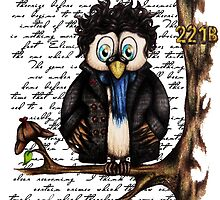 Crazy Owl - Sherlock Holmes inspired by WhatIfIAmInsane