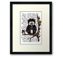 Crazy Owl - Sherlock Holmes inspired Framed Print
