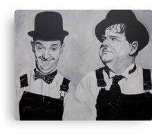 Laurel & Hardy Canvas Print