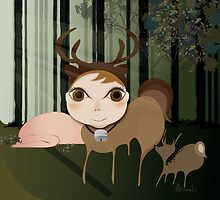 Deery Fairy in the Forest by carmanpetite