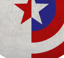 Cap and Bucky White Text Sticker