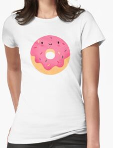 Happy donut Womens Fitted T-Shirt