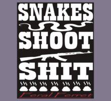 Snakes Shoot Shit (Invert) Kids Tee