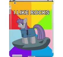 Maud Pie meets asdf: I like rocks! iPad Case/Skin