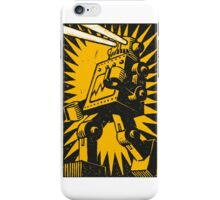 Black Robot iPhone Case/Skin