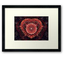 Fractal Heart Framed Print