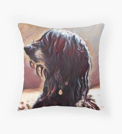 Afghan Furry Friend Throw Pillow