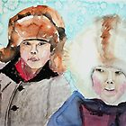 Inuit boys by Claudia Dingle