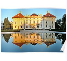 Slavkov castle reflected in water Poster