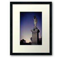 Dawn Service ANZAC Day. Framed Print