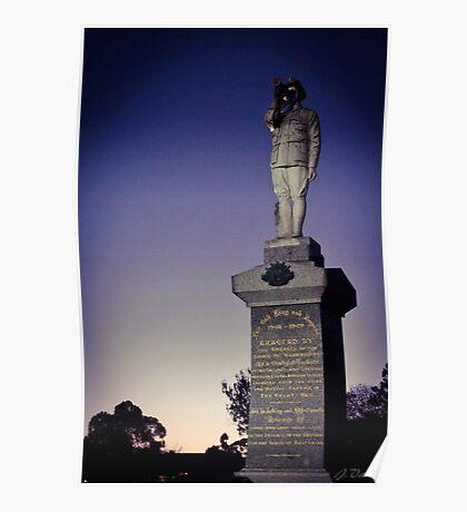 Dawn Service ANZAC Day. Poster
