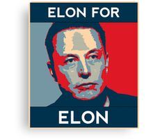 Elon for Elon Canvas Print