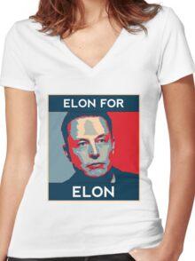 Elon for Elon Women's Fitted V-Neck T-Shirt