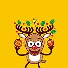 Cool Reindeer Decorating for Christmas by Zoo-co