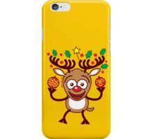 Cool Reindeer Decorating for Christmas iPhone Case/Skin