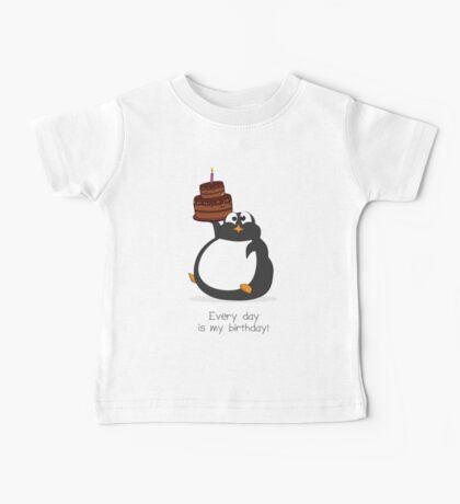 Birthday Penguin Baby Tee