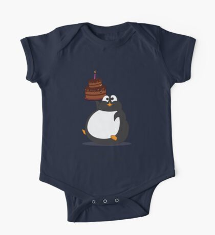 Birthday Penguin One Piece - Short Sleeve