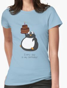 Birthday Penguin Womens Fitted T-Shirt
