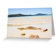 Oh To Be Washed Ashore Greeting Card