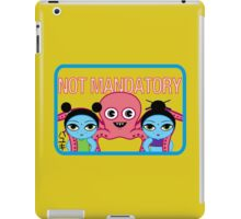 "Fruity Oaty Bar! ""NOT MANDATORY"" Shirt (Firefly/Serenity) iPad Case/Skin"