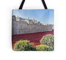 Tower Of London Poppies Tote Bag