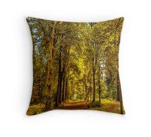 Woodland Pathway Throw Pillow