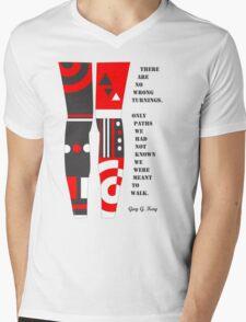 Walk the path Mens V-Neck T-Shirt