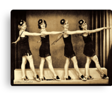 Chorus line in the 1920'es - flappers Canvas Print