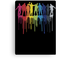 Rainbow Zombie Shuffle: Version One Canvas Print