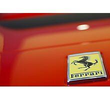 Ferrari Arty Logo  Photographic Print