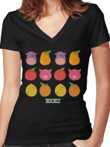 Go vegan Women's Fitted V-Neck T-Shirt