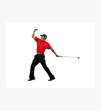 Tiger Woods Fist Pump Photographic Print