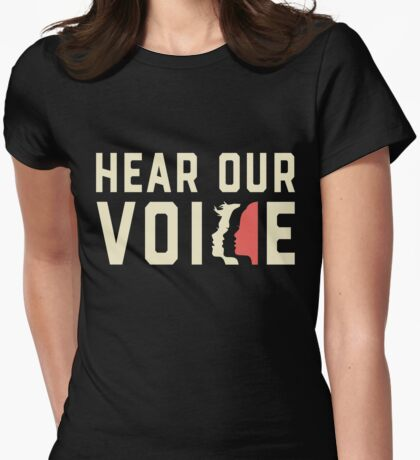 Women's March 2017 - Hear Our Voice Womens Fitted T-Shirt