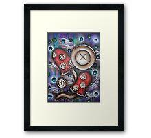 Button Mushrooms Framed Print